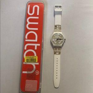 Swatch Watch White Silicone Watch IR08 New